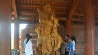 Tượng Bồ Đề Đạt Ma bằng gỗ nu nghiến lớn nhất Việt Nam