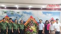 Các ban của tỉnh ủy chúc mừng ngày truyền thống Công an Nhân dân