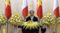 Chủ tịch nước: Trần Đại Quang: 'Giữa Việt Nam và Pháp là tình bạn chân thành'