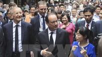 Báo chí Pháp đưa tin đậm nét về chuyến thăm Việt Nam của ông Hollande