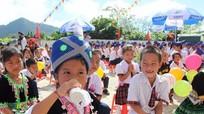 Khuyến khích 100% học sinh mầm non và tiểu học uống sữa học đường