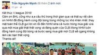 Đội trưởng SLNA: 'Một mùa giải thật thất vọng và đáng quên'