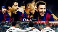 Bộ ba tiền đạo Barca vượt trội so với bộ ba của Real