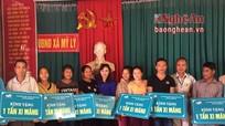 Viettel Nghệ An trao tặng 440 tấn xi măng cho hộ nghèo biên giới Kỳ Sơn