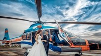 Em gái Huỳnh Phúc Điền chụp ảnh cưới trên trực thăng