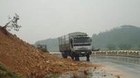 Núi Nguộc sạt lở, Quốc lộ 46 mất an toàn giao thông