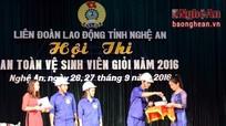 17 đội tham gia Hội thi An toàn vệ sinh viên giỏi tỉnh Nghệ An