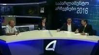 Ứng viên quốc hội Georgia đấm nhau trên sóng truyền hình