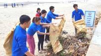 Dấu ấn áo xanh tình nguyện với môi trường biển Cửa Lò