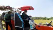 Nông dân Quỳ Hợp đầu tư máy gặt đập liên hợp