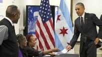 Obama đi bỏ phiếu sớm trước ngày bầu cử 8/11
