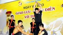 Hào hứng chương trình giao lưu võ thuật tại chùa