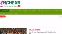 Nghệ An: Tạm ngừng hoạt động 2 trang tin điện tử