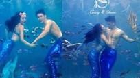 'Bom sex' gốc Việt hóa thân thành người cá trong thiệp cưới