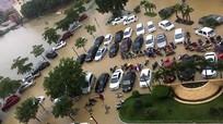 Mưa lớn, Thành phố Vinh ngập sâu cả mét