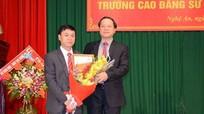 PGS.TS Lưu Tiến Hưng giữ chức hiệu trưởng Trường Cao đẳng Sư phạm Nghệ An