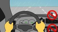 Nguyên tắc vàng khi lái xe dưới mưa