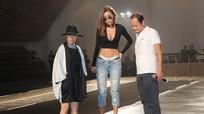Minh Tú diện quần jeans trễ khoe nội y