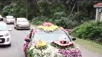 Nghệ An: Xe hoa rước dâu gây sốt cộng đồng mạng