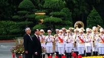 Hình ảnh lễ đón Tổng thống Myanmar thăm chính thức Việt Nam
