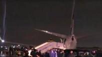Máy bay chở ứng viên phó tổng thống Mỹ trượt khỏi đường băng