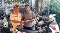 Mất trộm xe máy ở Hà Tĩnh, nhận lại ở Nghệ An
