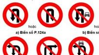 Từ 1/11: Thay đổi biển giao thông cấm rẽ, quay đầu xe