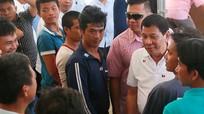 Tổng thống Duterte tiễn 17 ngư dân Việt Nam về nước