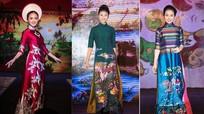 Đào Thị Hà cùng dàn người đẹp HHVN 2016 hội ngộ trình diễn áo dài