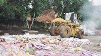 Nghệ An: Tiêu hủy gần 100 mặt hàng kém chất lượng, hàng lậu, hàng giả