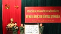 Đoàn công tác Học viện Chính trị thăm, làm việc tại Bộ CHQS tỉnh Nghệ An