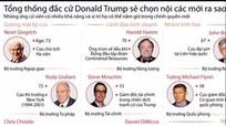 [Infographics] Nội các mới của Tổng thống đắc cử Mỹ sẽ ra sao