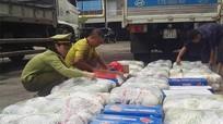Nghệ An: Bắt 2 xe tải chở gần 3 tấn rau củ nhập lậu từ Trung Quốc