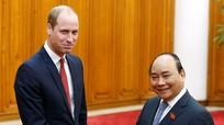 Hoàng tử Anh William gặp Thủ tướng Nguyễn Xuân Phúc
