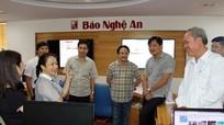 Đoàn công tác Báo Đà Nẵng thăm Tòa soạn Báo Nghệ An