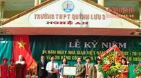 Trường THPT Quỳnh Lưu 3 đón Bằng công nhận đạt chuẩn Quốc gia