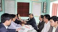 Kiểm tra việc thực hiện đặt mua và sử dụng báo Đảng ở Diễn Châu