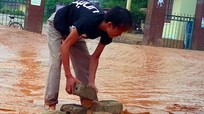Đường vào bệnh viện Tây Nam Nghệ An vẫn 'đắp chiếu' sau 7 năm khởi công