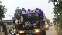 Nghệ An: Độc đáo màn rước dâu bằng xe tải Cửu Long
