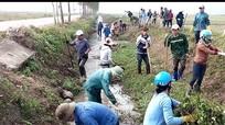 Diễn Châu: 12.000 người ra quân làm thủy lợi