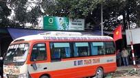Xe buýt Thạch Thành mất lái cuốn cán bộ xe buýt Đông Bắc vào gầm