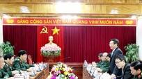 Đại sứ đặc mệnh toàn quyền Việt Nam tại Lào làm việc với Quân khu 4
