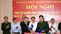 Ban Dân vận Tỉnh ủy ký kết chương trình phối hợp với Bộ chỉ huy BĐBP tỉnh