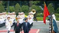 Hình ảnh lễ đón Thủ tướng Campuchia Hun Sen