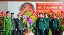 Công an tỉnh Nghệ An chúc mừng các đơn vị quân đội nhân ngày truyền thống