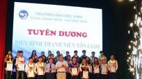 ĐH Vinh tuyên dương 31 sinh viên tôn giáo tiêu biểu