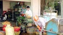 Nông dân Yên Thành vào vụ chế biến tinh bột nghệ