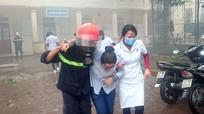 Diễn tập chữa cháy tại Bệnh viện đa khoa TP Vinh