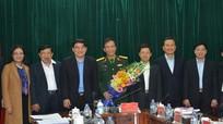 Ban Thường vụ Tỉnh ủy chúc mừng Đại tá Hà Tân Tiến nhận nhiệm vụ mới