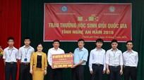 101 học sinh Nghệ An tham dự Kỳ thi chọn học sinh giỏi Quốc gia.